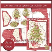 Love At Christmas Upright Diamond Fold Card