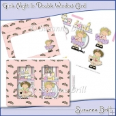 Girls Night In Double Window Card