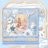 Christmas Frosted Florals & Church 8x8 Decoupage Kit