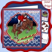 HORSE SHOW JUMPING 7.5 Decoupage & Insert Mini Kit