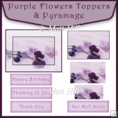 Purple Flowers Topper & Pyramage