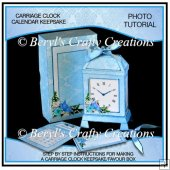 Carriage Clock Shaped Keepsake/Favour Boxes - Photo Tutorial