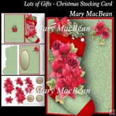 Lots of Gifts - Christmas Stocking Card