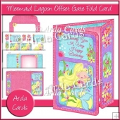 Mermaid Lagoon Offset Gate Fold Card