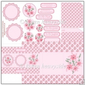 Pretty In Pink Tri Shutter Card