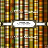 Autumn Plaids Set One 12 x 12 Backing Papers