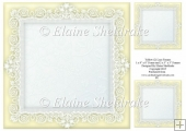 "Yellow (2) Lace Frames - One 8"" x 8"" and Two 3"" x 3"""
