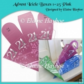Advent Icicle Boxes 1-25 Pink