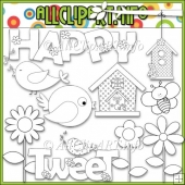 Happy Day Commercial Use Digital Stamps