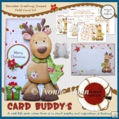 Reindeer Greetings Shaped Fold Card Kit