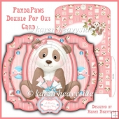 Pandapaws Double Pop Out Card