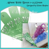 Advent Icicle Boxes 1-25 Green