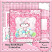 Bunny Bonnets Foldback Card And Gift Box