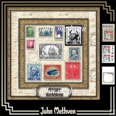 Stamp Collector 3 Page Decoupage Mini Kit