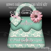 Green Daisy Handbag Shaped Mini Kit