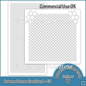 Patterned Corner Easel Card Template