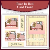 Bear in Bed Pyramage Card Front