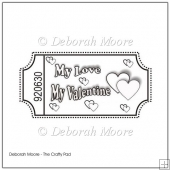 My Love, My Valentine Digital Stamp/Sentiment