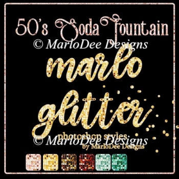 1950 Soda Fountain Colors - Marlo Glitter Photoshop Styles