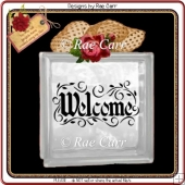 737 Welcome Vinyl Glass Block *MACHINE Formats*