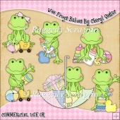 Wee Frogs Babies ClipArt Graphic Collection