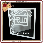 510 Hello Sign Card & Topper *MACHINE Cut Files*