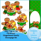 GSD Print n Cut Christmas Gingerbread Family Decoupage Set