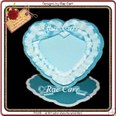 512 Blue Ruffled Easel *HAND & MACHINE Cut Files*