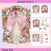 Bridal Arch 2 Shaped Wedding Card Mini Kit