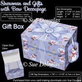 Gift Box Snowmen and Gifts with Bow Decoupage