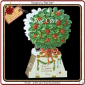 420 Christmas Holly Tree Treat Box *MACHINE & HAND Cut Files*