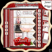 CHAMPAGNE 7.5 Alphabet Ruby Wedding Anniversary Alphabet Kit