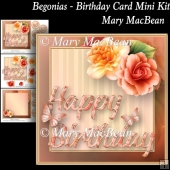 Begonias - Birthday Card Mini Kit