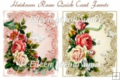 Heirloom Roses Pair of Quick Card Fronts