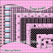 10 Funky Pink Backing Papers Download (C37)
