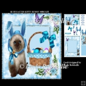 Blue Easter Kitty Bunny Mini Kit