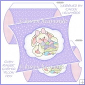 Ruby Rabbit Easter Pillow box
