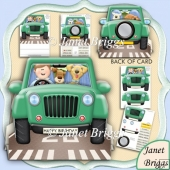 One Man, His Dog & a Jeep 3D Shape Card & Decoupage Kit