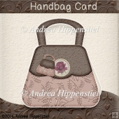 Handbag Card light Brown