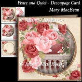 Peace and Quiet - Decoupage Card