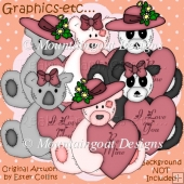 Valentine Bears Clipart