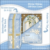 Winter Wishes Gift Box Card