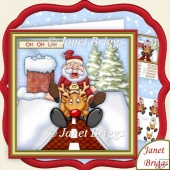 Oh Oh Oh! Crash Landing Christmas 7.5 Decoupage Kit
