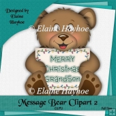 Message Bear 2 Single Clipart