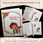 Peek a Boo Bear Pop Out Gift CardHolder/Money Wallet Card