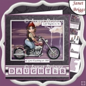BIKER GIRL LIFE BEGINS AT Humorous 7.5 Decoupage & Insert Kit
