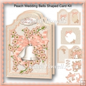 Peach Wedding Bells Shaped Card Kit
