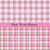 Pink Plaid Papers