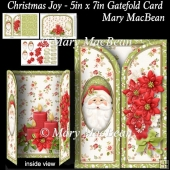 Christmas Joy - 5in x 7in Gatefold Card