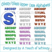 6 Glossy/Glass Upper Case Alphabets